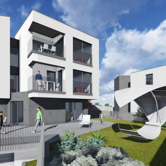 Zwei Wohngebäude